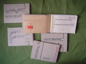 japanese stabbed notebooks with envelope